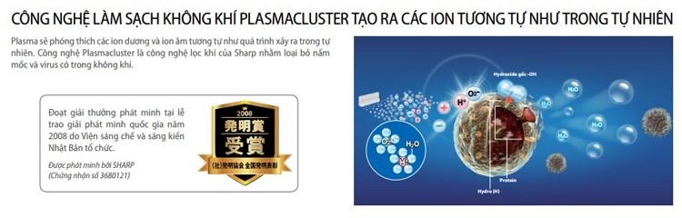 Công nghệ làm sạch không khí Plasmacluster đã được kiểm chứng