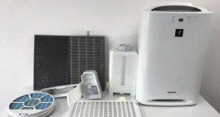 Các bộ phận của máy lọc không khí được phơi khô