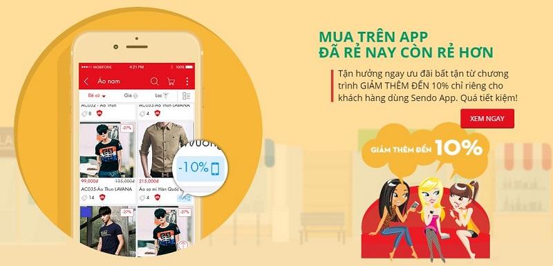 Mua hàng trên ứng dụng di dộng sẽ rẻ hơn trên web