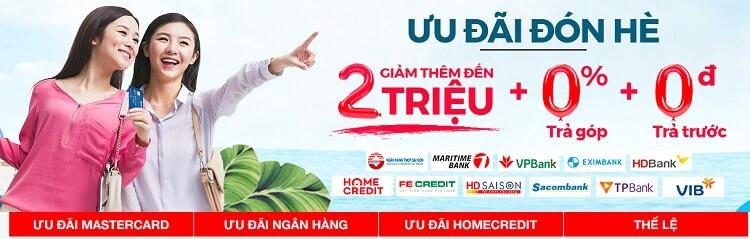 Nguyễn Kim giảm giá lớn chào hè 2018 khi khách hàng thanh toán từ các ngân hàng