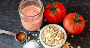 cà chua và bột yên mạch